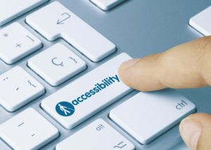 Person clicking button