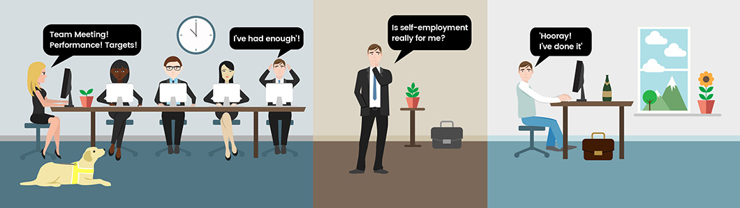 being an employee vs being self employed essay Employed or self-employed self-employed person will be running a business on his own account proportion of self-employment without employees in the business.