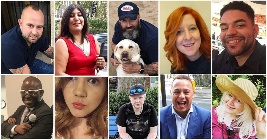 Collage of people who all have sight loss